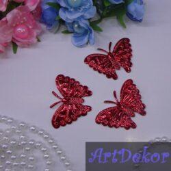 Аппликации «Бабочка хамелеон» красный цвет