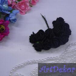 Роза из фоамирана черного цвета
