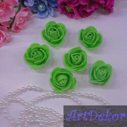Роза 3 см салатового цвета