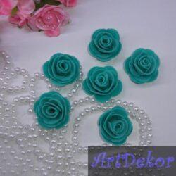 Роза 3 см изумрудного цвета