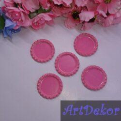 Крышечки (серединки) для бантика (заколки) розового цвета