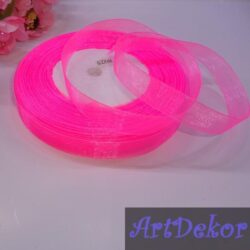 Органза однотонная 1 см маркерно розового цвета