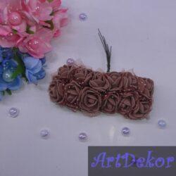 Роза фатин коричневого цвета