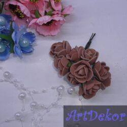 Роза 1,5 см коричневые