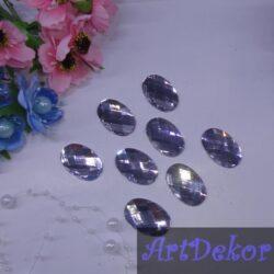 Камень овал 2х3 см серебро