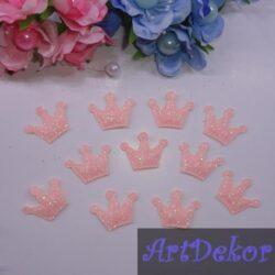 Апликация корона персикового цвета