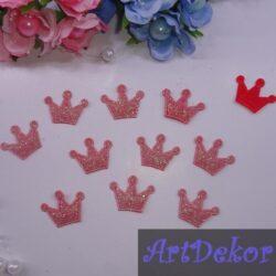 Апликация корона красного цвета
