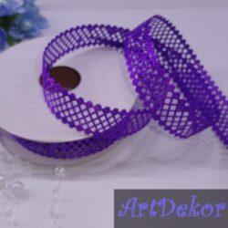 Тесьма декоративная сеточка фиолет