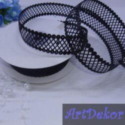 Тесьма декоративная сеточка черная