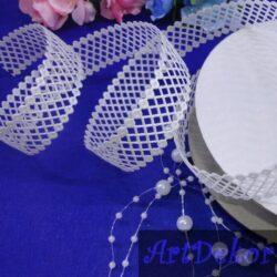 Тесьма декоративная сеточка белая