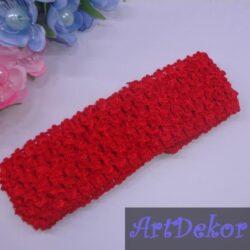 Повязочка на голову сетка 4 см красная