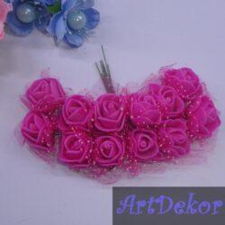 Роза фатин, малинового цвета