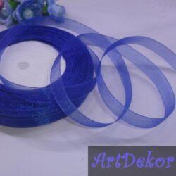 Органза 1.2 см синяя