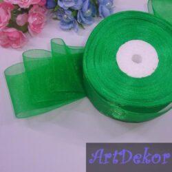 Органза 5 см зеленого цвета