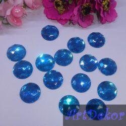 Камень круг 2 см голубой