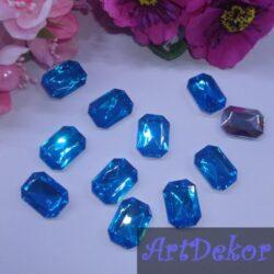 Камень прямоугольник, 1.8х1.3 см голубой