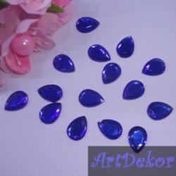 Камень капелька 1х1.4 см, синий