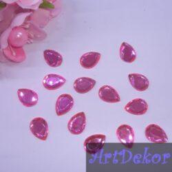Камень капелька 1х1.4 см, розовый