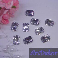 Серединка камень прямоугольный, 1.3х1.8 см серебро