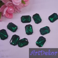 Серединка камень прямоугольный, 1.3х1.8 см зеленый