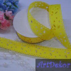 Перфорация репс 2.5 см желтого цвета