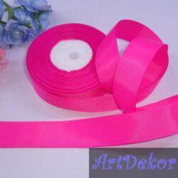 Лента репсовая 2.5 см маркерно розовая