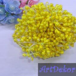 Тычинка крупная глянец желтого цвета
