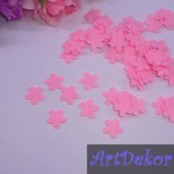Цветочек фетровый 1.5 см розовый