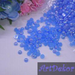 Полубусины 0.6 см перламутровые голубые(50 штук)