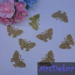 Бабочки блестящие, золото