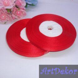 Лента репсовая 0.6 см красного цвета