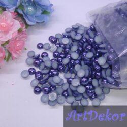 Полубусины 1 см, темно синего цвета (50 шт)