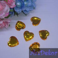 Стразы декор «сердце » 2.5 см
