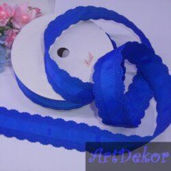 Ажур репсовый , 3 см цвет синий