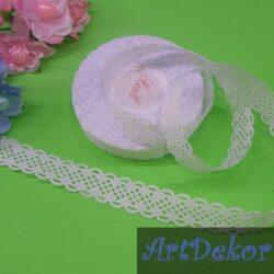 Лента перфорация - ромбик 2 см, белого цвета