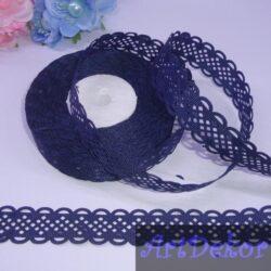 Лента перфорация — ромбик 2 см, темно синего цвета