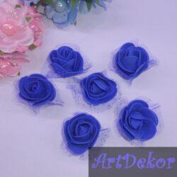 Головка розы с фатином