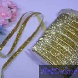 Тесьма люрексовая, 1 см золото
