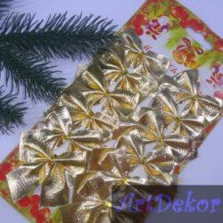 Бантик новогодний золото