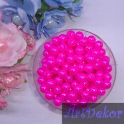 Бусина 0.8 см маркерно розового цвета