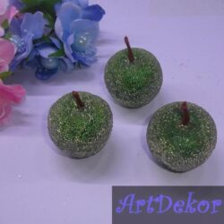 Яблоки декоративные, сахарные 4 см