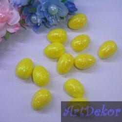Яйцо пенопластовое 2.5 см, глиттерное
