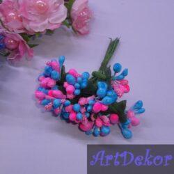Додато — незабудка микс ярко розовый + голубой