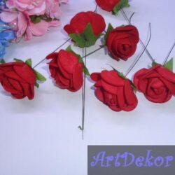 Роза на ножке 3-3.5 см, бардо