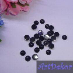 Полубусина 8 мм черного цвета