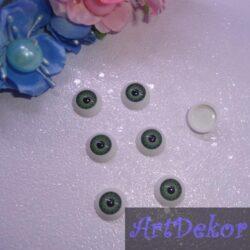 Глазки куклы круглые серо-синие 12 мм 2 шт.