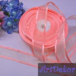 Органза 2.5 см с полосками