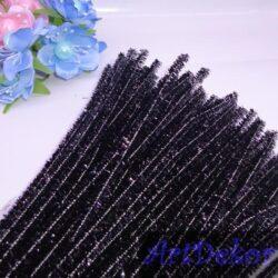 Палочки синильные с люрексом черные