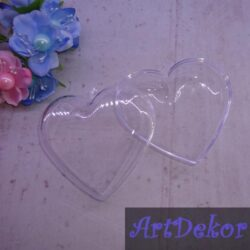 Декоративное прозрачное сердце