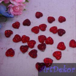 Серединка пупырышка сердечко 1.6 красная